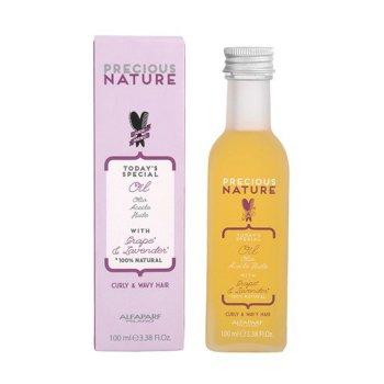 ALFAPARF PRECIOUS NATURE CURLY WAVY HAIR OIL 100 ml - Olio per capelli ricci, capelli morbidi, brillanti e leggeri