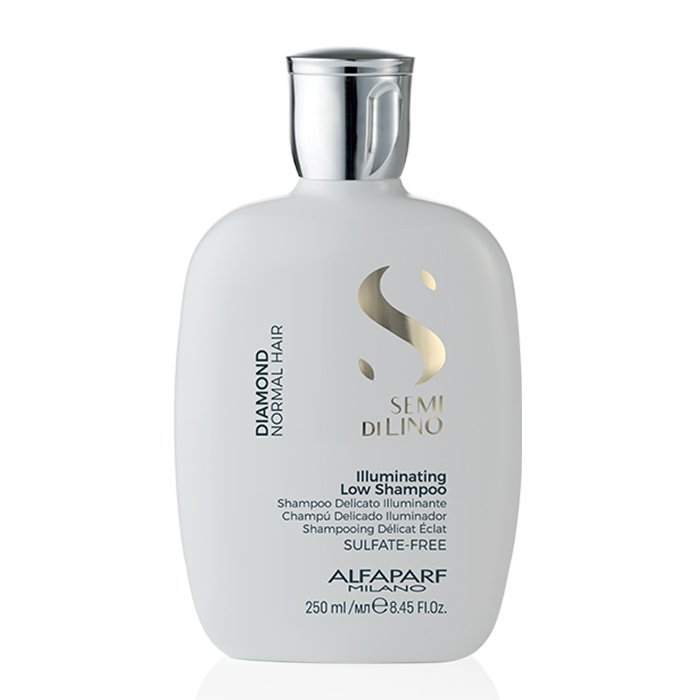 ALFAPARF SEMI DI LINO DIAMOND ILLUMINATING LOW SHAMPOO 250 ml - Shampoo delicato illuminante. Lucentezza estrema