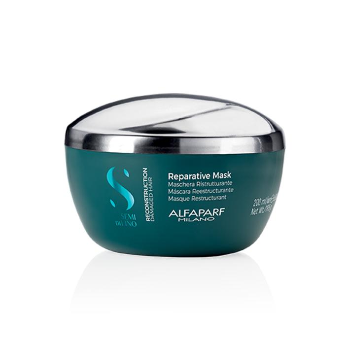 ALFAPARF SEMI DI LINO REPARATIVE MASK 200 ml - Maschera ristrutturante intensiva per capelli danneggiati e sfibrati