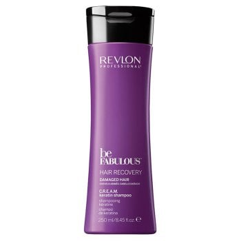 REVLON PROFESSIONAL BE FABULOUS DAMAGED HAIR CREAM KERATIN SHAMPOO 250 ml / 8.45 Fl.Oz
