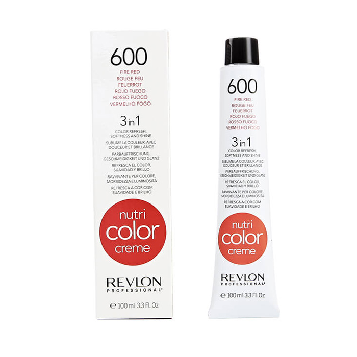 REVLON PROFESSIONAL NUTRI COLOR CREME 600 - FIRE RED 100 ml / 3.30 Fl.Oz