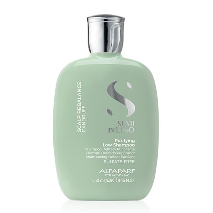 ALFAPARF SEMI DI LINO SCALP RENEW PURIFYING LOW SHAMPOO 250 ml - Shampoo purificante per cute con problemi di forfora secca o grassa