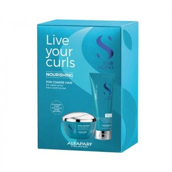 ALFAPARF SEMI DI LINO CURLS - LIVE YOUR CURLS NOURISHING KIT - CAPELLI RICCI GROSSI