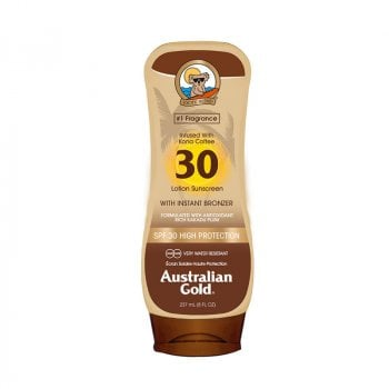 AUSTRALIAN GOLD SPF 30 LOTION SUNSCREEN KONA COFFEE 237 ml / 7.00 Fl.Oz