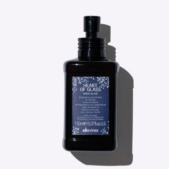 DAVINES HEART OF GLASS SHEER GLAZE 150 ml - Fluido illuminante termoprotettivo per capelli biondi.