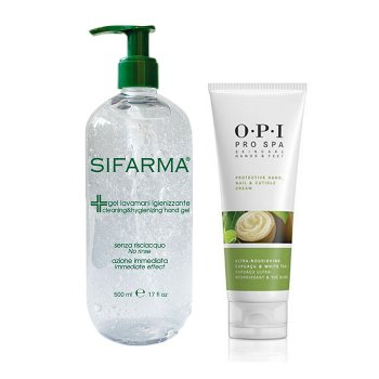 KIT GEL LAVAMANI IGENIZZANTE 500 ml E OPI PRO SPA CREMA MANI 50 ml