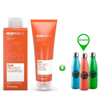 FRAMESI MORPHOSIS SUN SUN PROTECT SHAMPOO E CONDITIONER - BYO BOTTLE IN OMAGGIO