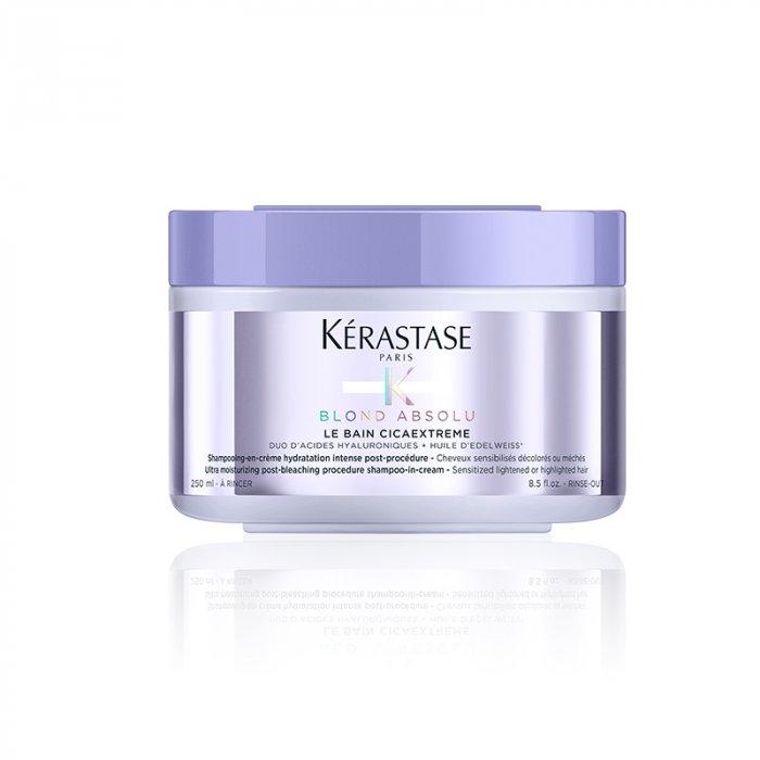 KERASTASE BLOND ABSOLU LE BAIN CICAEXTREME 250 ml - Shampoo-in-crema ultra idratante per capelli sensibilizzati post decolorazione