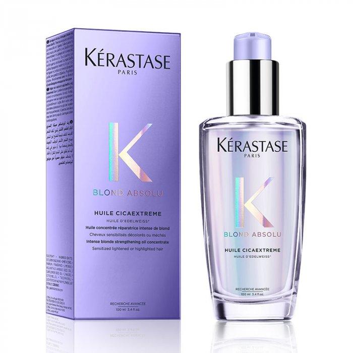 KERASTASE BLOND ABSOLU HUILE CICAEXTREME 100 ml - Olio rinforzante per capelli biondi estremamente sensibilizzati dalla decolorazione