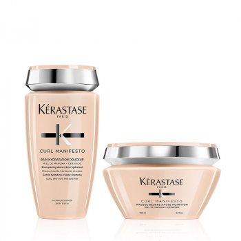 KERASTASE - CURL MANIFESTO RITUEL - BAIN HYDRATATION DOUCEUR - MASQUE BEURRE HAUTE NUTRITION