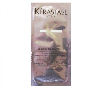 KERASTASE BLOND ABSOLU MONODOSE LE BAIN CICAEXTREME 10 ml - Shampoo-in-crema ultra idratante per capelli sensibilizzati post decolorazione