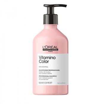 L'OREAL SERIE EXPERT VITAMINO COLOR SHAMPOO 500 ml - Shampoo per capelli colorati. Azione anti-sbiadimento del colore.