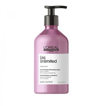 L'OREAL SERIE EXPERT LISS UNLIMITED SHAMPOO 300 ml - Shampoo per capelli crespi. Effetto anti-crespo.