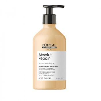 L'OREAL SERIE EXPERT ABSOLUT REPAIR SHAMPOO 500 ml - Shampoo per capelli molto danneggiati.