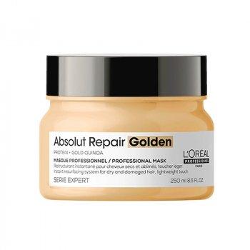 L'OREAL SERIE EXPERT ABSOLUT REPAIR MASK GOLDEN 250 ml - Maschera con texture dorata per capelli danneggiati.