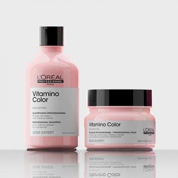 L'OREAL SERIE EXPERT VITAMINO COLOR KIT SHAMPOO-MASK - Per capelli colorati. Azione anti-sbiadimento del colore.