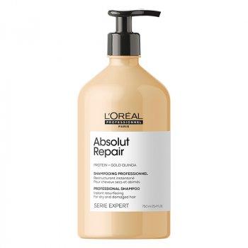 L'OREAL SERIE EXPERT ABSOLUT REPAIR SHAMPOO 750 ml - Shampoo per capelli molto danneggiati.