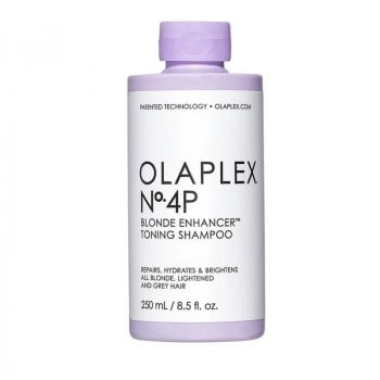 OLAPLEX N°4P BLONDE ENHANCER TONING SHAMPOO 250 ML - Shampoo antigiallo per capelli biondi/grigi