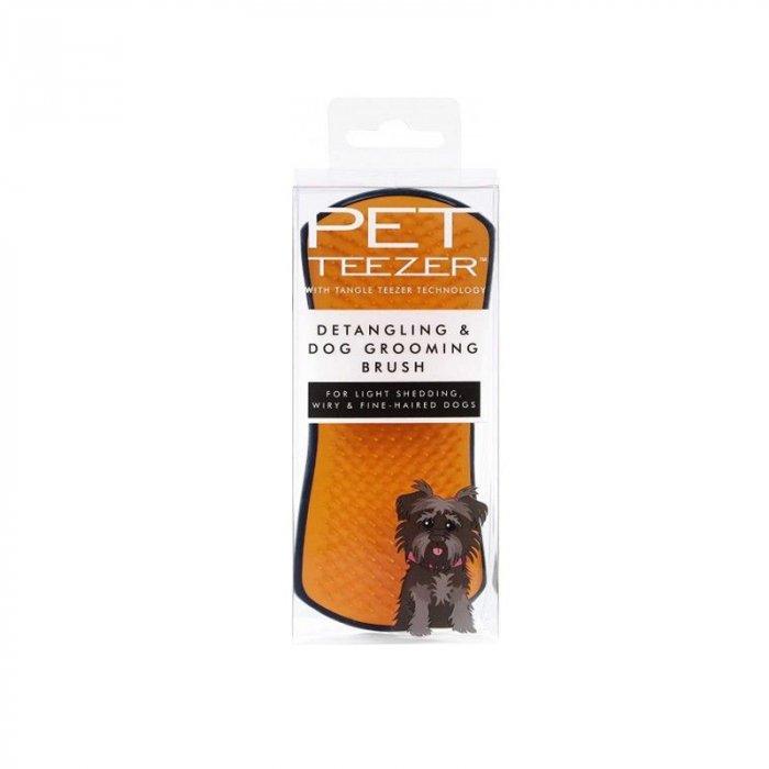 PET TEEZER DE SHEDDING DOG GROOMING BRUSH BLUE/PINK - Spazzola per cani