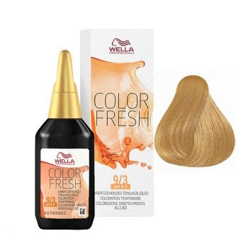 WELLA COLOR FRESH 9/3 - BIONDO CHIARISSIMO DORATO 75 ml / 2.55 Fl.Oz