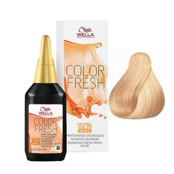 WELLA COLOR FRESH 10/39 - BIONDO PLATINO DORATO CENDRE 75 ml / 2.55 Fl.Oz