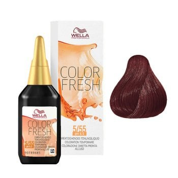 WELLA COLOR FRESH 5/55 - CASTANO CHIARO MOGANO INTENSO 75 ml / 2.55 Fl.Oz